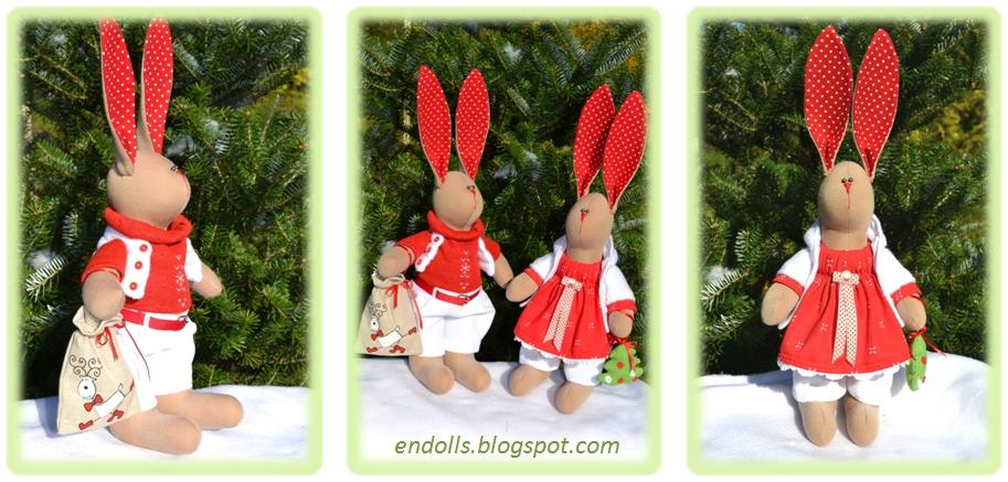 Новогодние зайцы своими руками фото