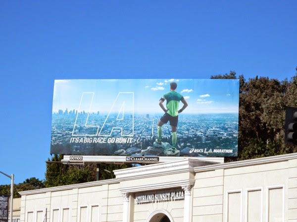 Asics LA Marathon 2015 billboard