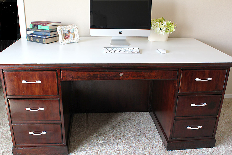 Painted Desk remodelaholic | dry erase painted desk