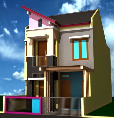 Desain Rumah Minimalis 2 Lantai Type 36, denah rumah modern