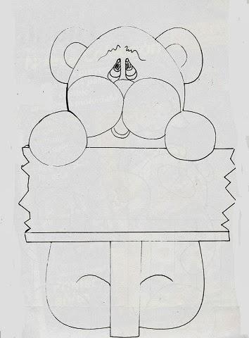 desenho ursinho  para pintar