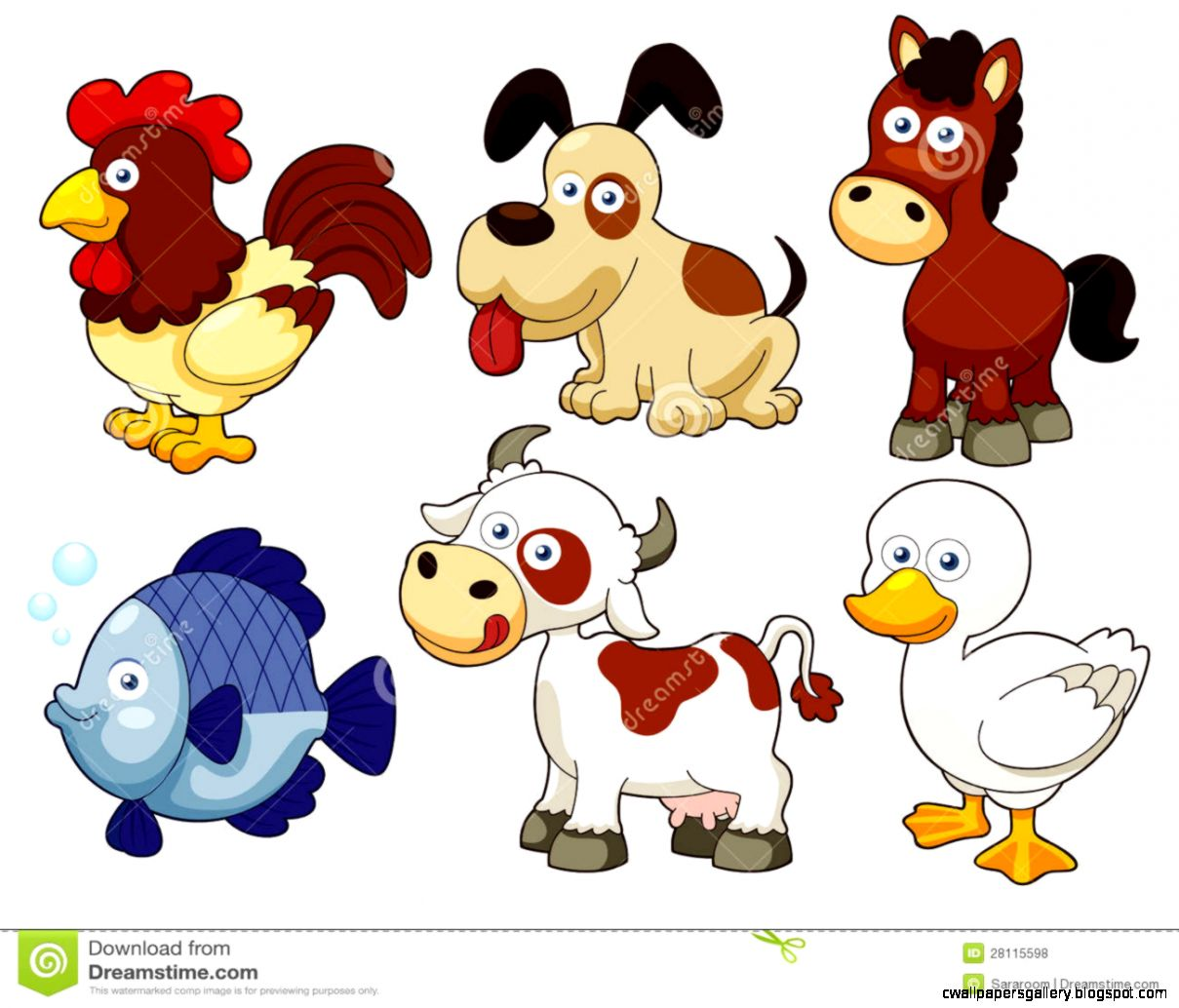free woodland animal clipart. block animals toys for kids cute ...
