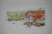 Ett smakprov av mina tavlor (akvarell)