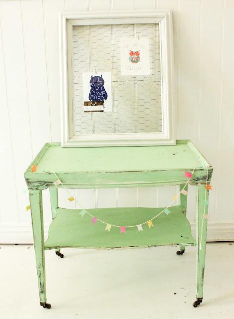 vintage mint table
