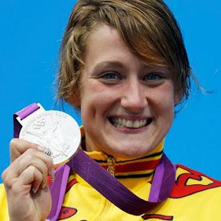 Mireia Belmonte medallas de plata en natación Juegos Olímpicos de Londres 2012