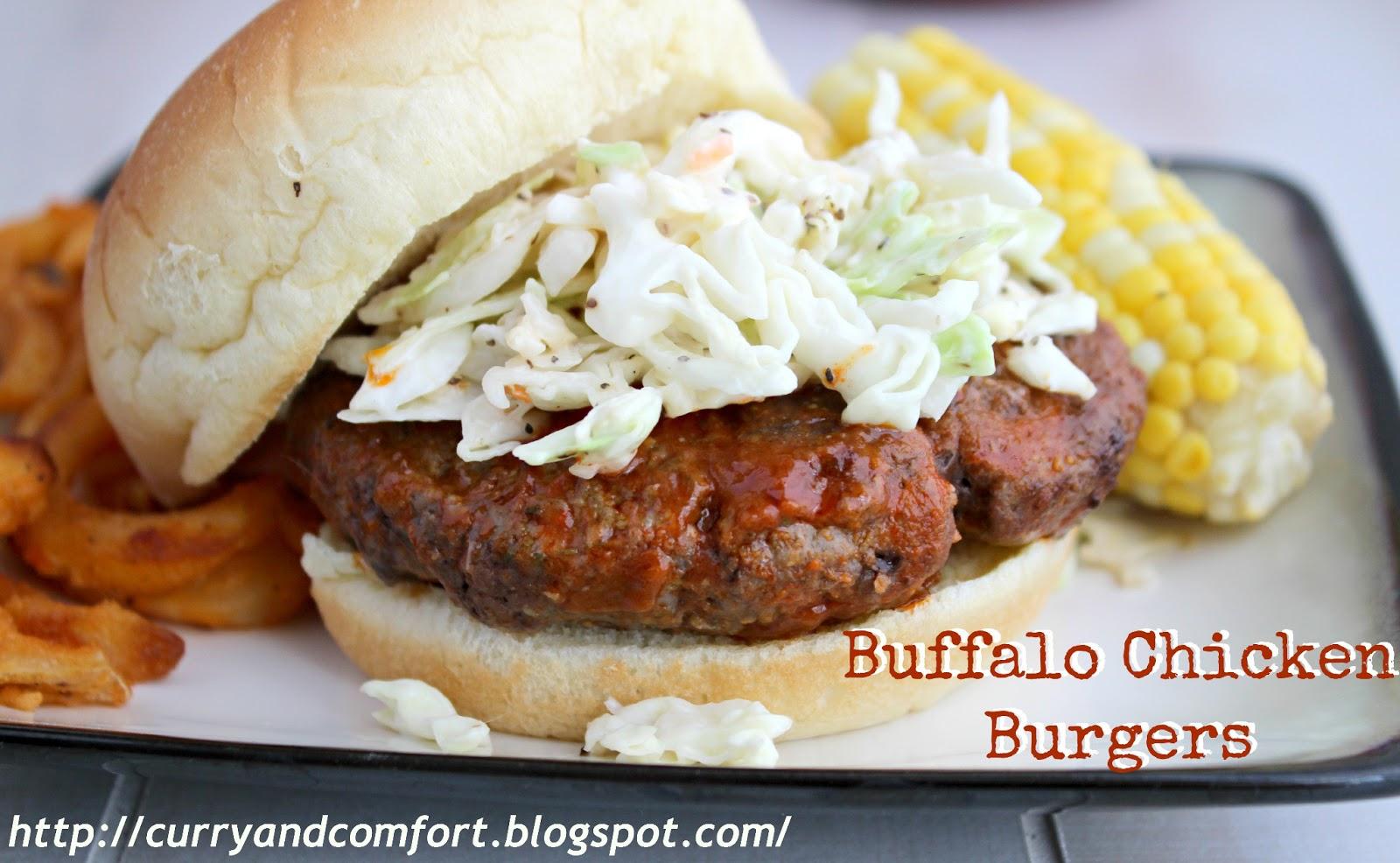 Buffalo Chicken Burger with Creamy Slaw (Throwback Thursdays ...