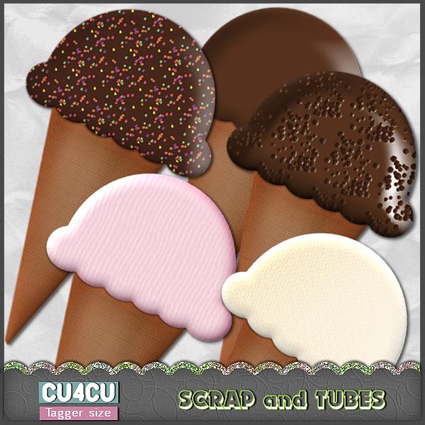 Ice Cream Cones (TS/CU4CU) .Ice+Cream+Cones_Preview_Scrap+and+Tubes