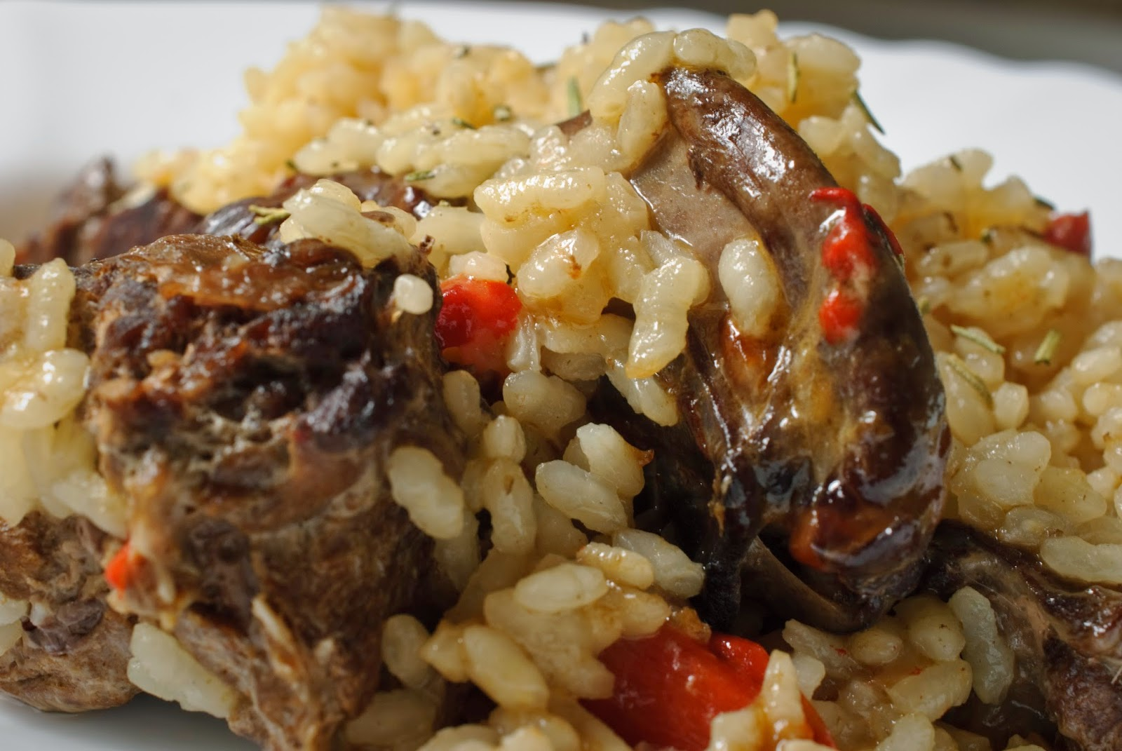 Arroz con liebre; rice with hare