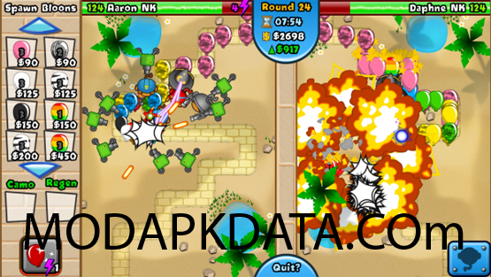 Bloons TD Battles takes the tower protection idea upheld in the Bloons