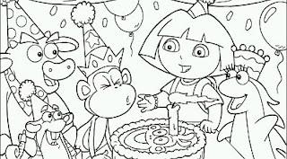 Dibujos de Cumpleaños para Pintar, parte 1