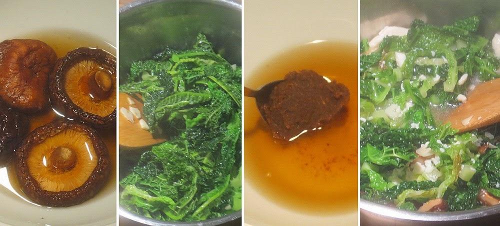 Zubereitung Wirsing-Miso-Suppe