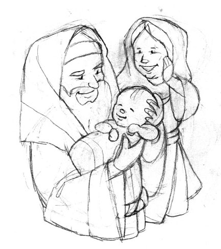 Simeon and anna craft sketch coloring page for Simeon and anna coloring page