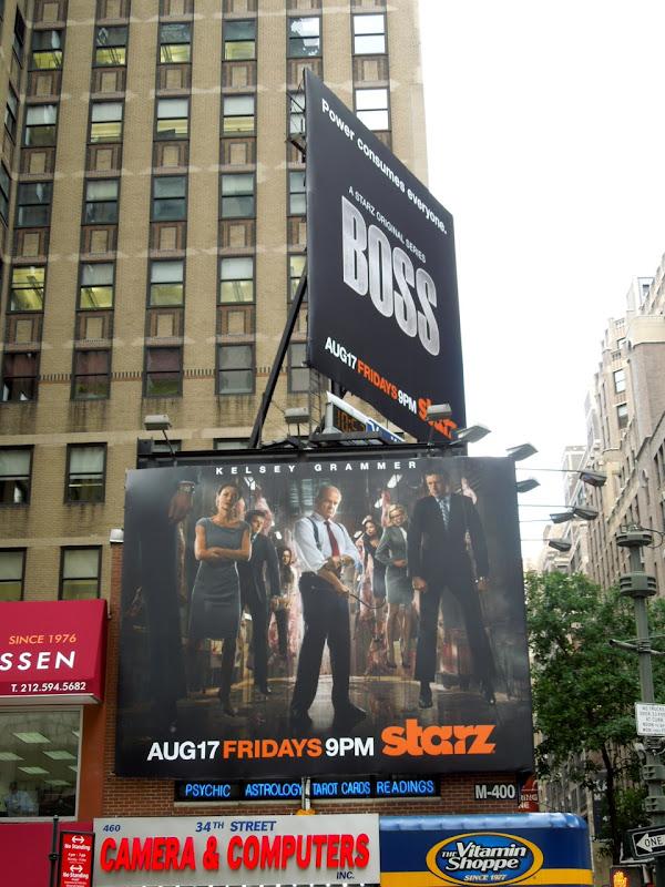 Boss season 2 Starz billboards NYC