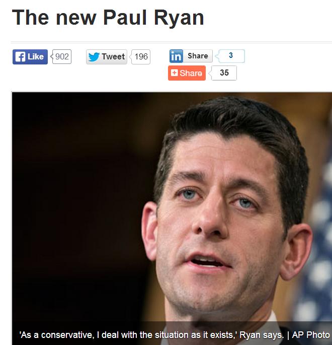Paul Ryan has always focused on Poverty? Media Keeps Myth Alive.