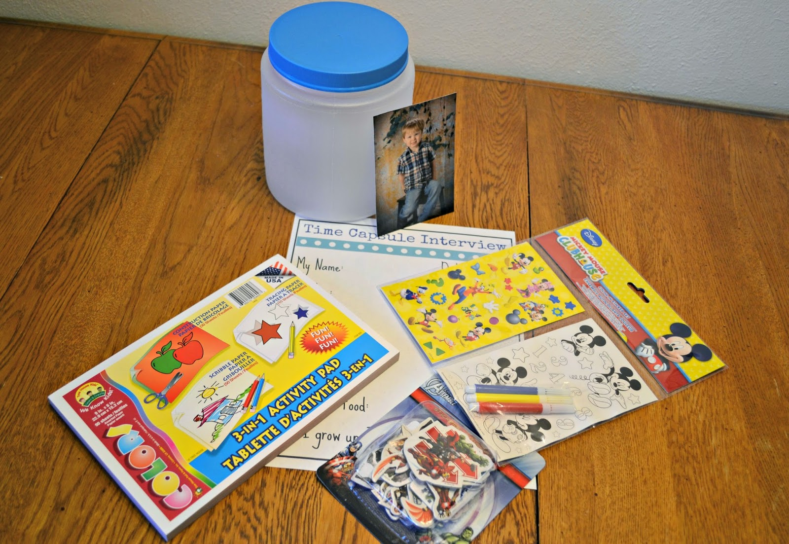 Time Capsule For Preschoolers Craft & Dollar Tree Gift Card #Giveaway Time Capsule Ideas for kids.  Time Capsule Free Printable.  Dollar Tree crafts.
