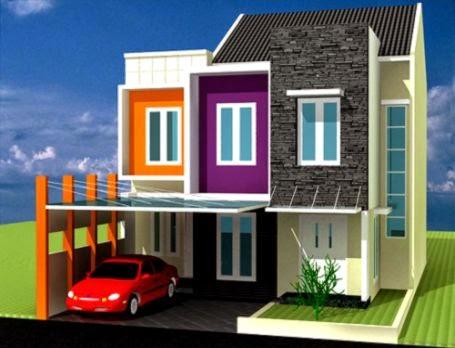 Kombinasi Warna Cat Kamar Tidur Ruang Tamu Keluarga Rumah 2014