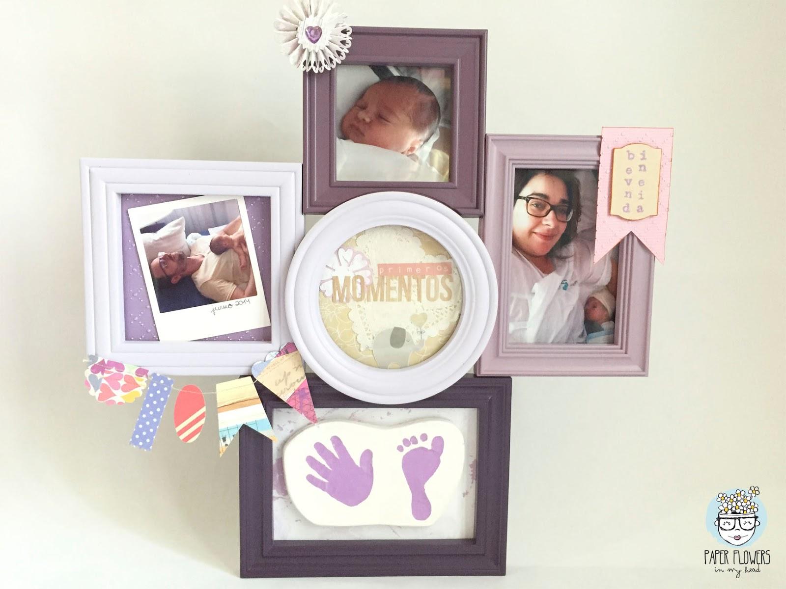 marco alterado infantil huellas bebé