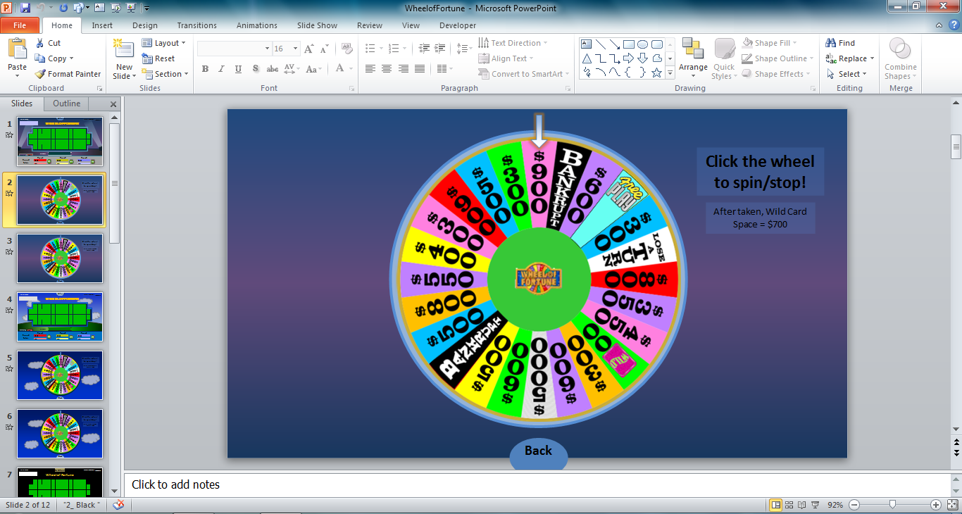 tims slideshow games wheel of fortune for powerpoint