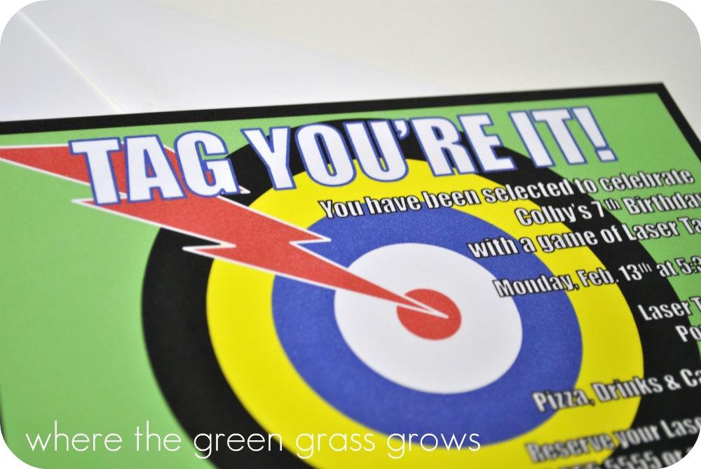 Where the Green Grass Grows Designs: Laser Tag Party