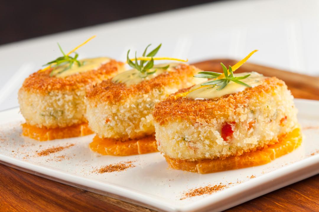 Maryland Blue Crab Cakes with Florida Orange–TarragonHollandaise