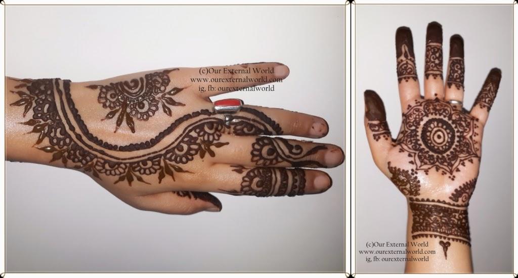Henna Mehndi Nail Art : Venue and my karva chauth henna nail art