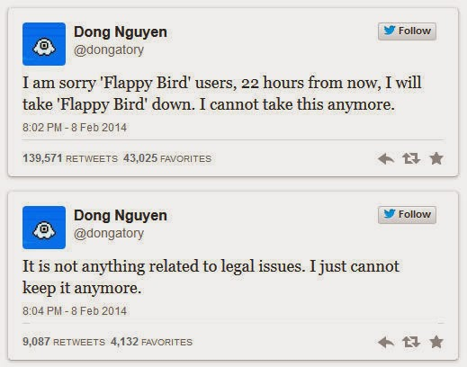 Flappy Bird, Flappy Bird victim of its success, Vietnamese developer, free apps,