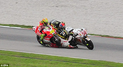 Marco Simoncelli dead crash