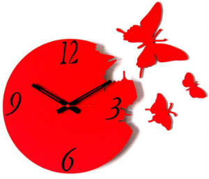 Flying Butterflies Wall Clock