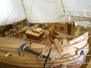maqueta del barco frances de las guerras napoleonicas Le Renard