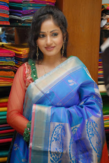 Actress Madhavi Latha Pictures in Salwar Kameez at Sreeja Fashions South Silk Festival 2013 Launch 0014.jpg