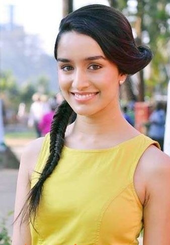 Shraddha Kapoor Ponytail Hairstyle with Braids and Twists