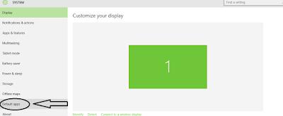 """Choose """"Default Apps"""" in System"""