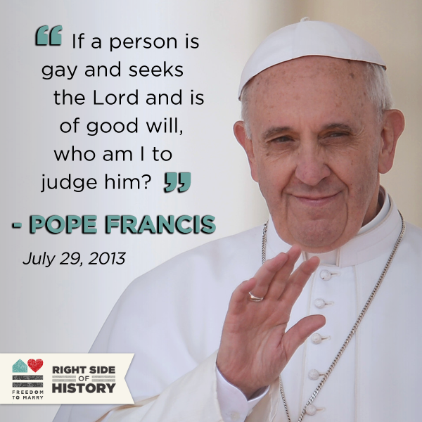 Pope on gays