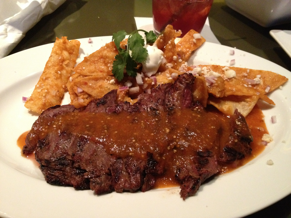 Chilaquiles With Marinated Skirt Steak Recipes — Dishmaps