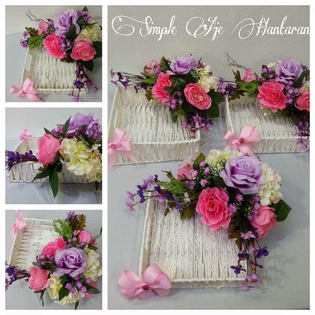 Simple aje hantaran kotak hantaran pink dan ungu for Idea door gift tunang
