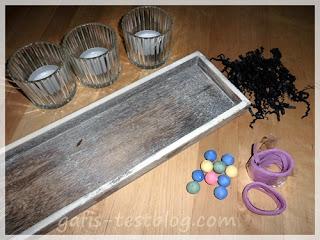 Material für Teelichtdeko-Fasching