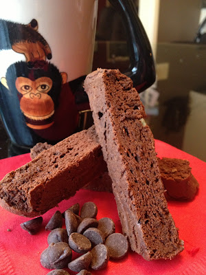 Lindsey's Recipes...Gluten Free Recipes: Double Chocolate Mocha Biscotti (low carb, gluten free, dairy free)