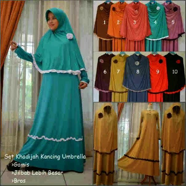Koleksi Gamis Khadijah Kancing Toko Online Baju Batik Modern