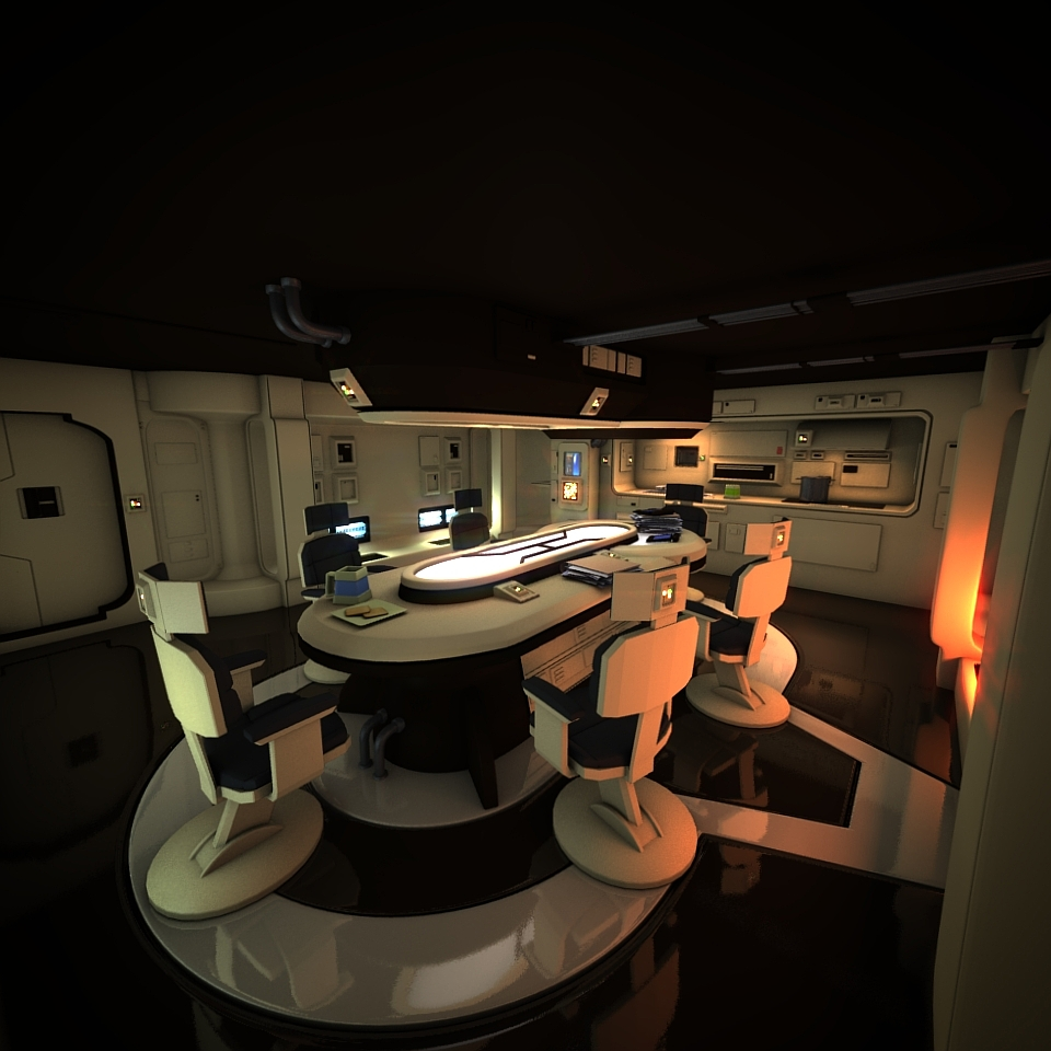 The gallery for sci fi interior design for Sci fi decor