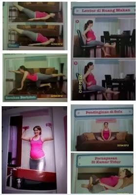 Gambar Panduan Senam Ibu Hamil di rumah Usia 7 Bulan