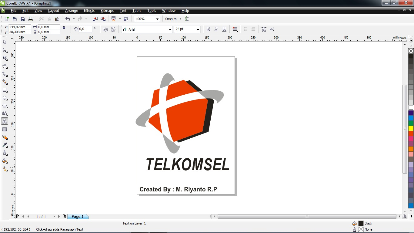 cara membuat logo telkomsel dengan corel draw muhammaddeko