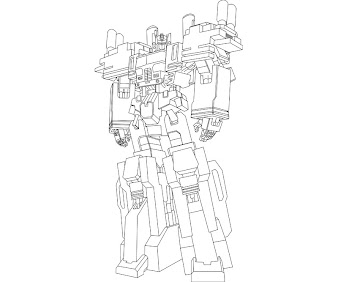 #16 Transformers Coloring Page