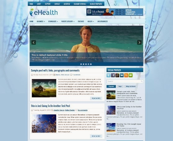 eHealth Blogger Template