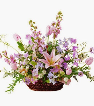 Seasonal Pink Arrangement delivery in Japan