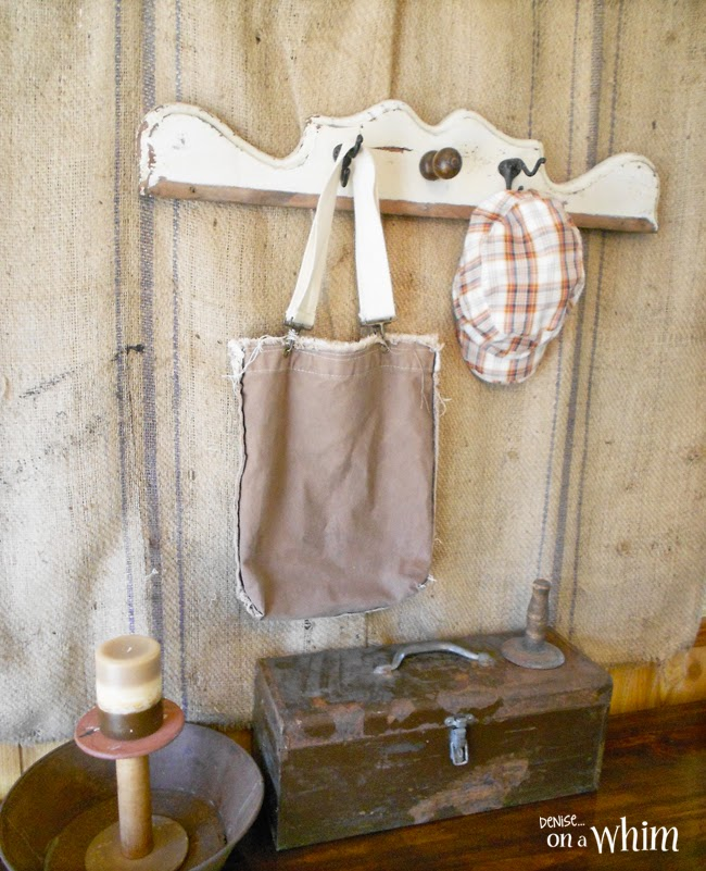 Rust and a salvaged wood hook board from Denise on a Whim