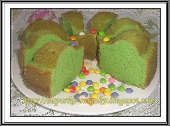 Cake Tanpa Pengembang Tambahan, Bolu Pandan, Cake Pandan