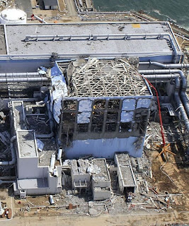 Fukushima first nuclear reactor blast image