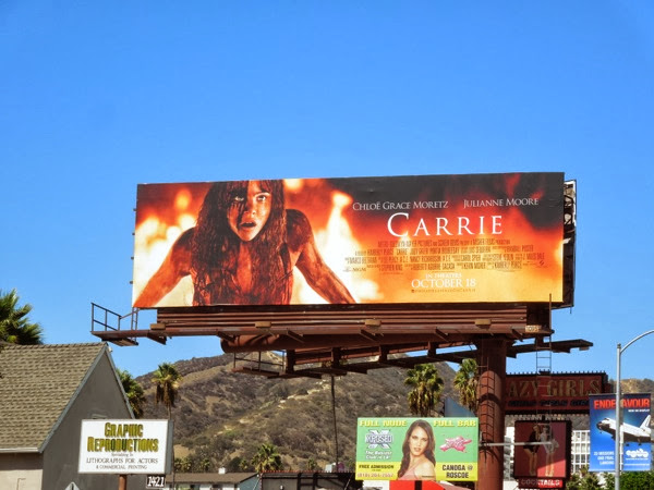 Carrie movie remake billboard