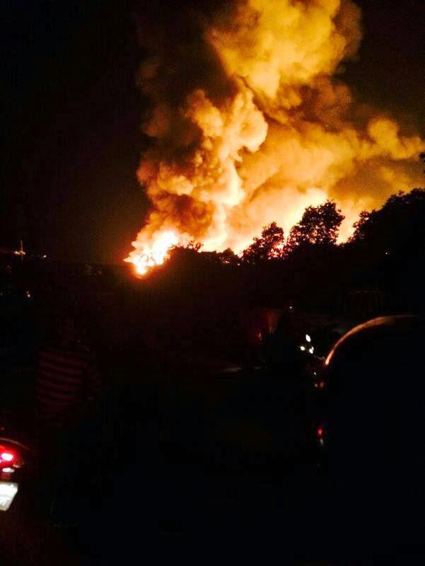 15 gambar kejadian kebakaran yang melibatkan lebih 100 rumah di Kg Tanjung Batu Logpond Tawau