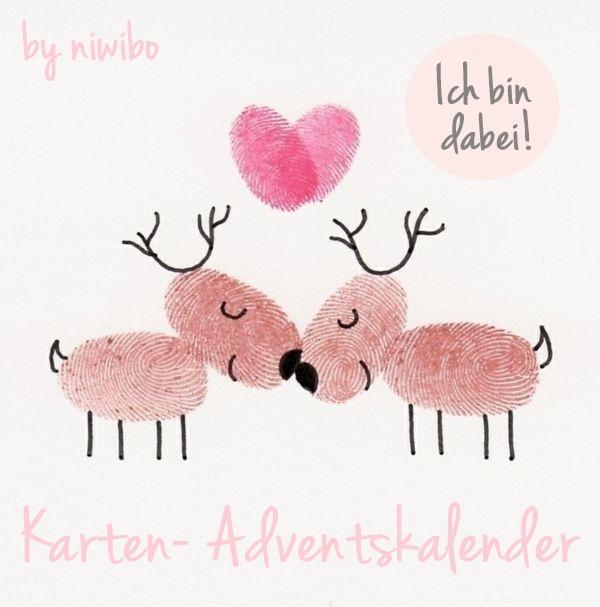 Ich bin dabei  ♥  Karten-Adventskalender 2017 by niwibo
